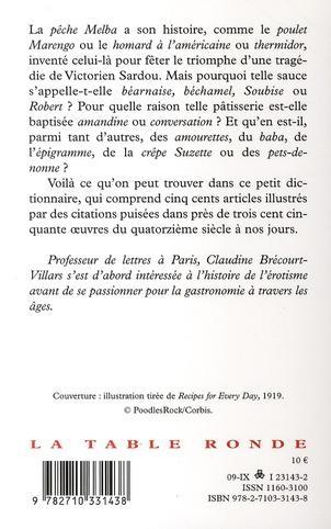 Livre mots de table mots de bouche dictionnaire - Dictionnaire de la cuisine ...