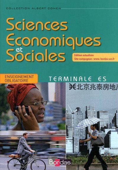 Livre: SES Tle ES Spécialité •Sciences sociales et ...