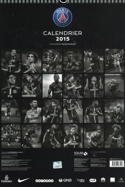 Livre psg calendrier mural 2015 collectif for Calendrier mural 2015