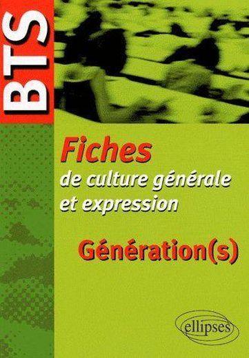 G 233 N 233 Ration S Bts Fiches De Culture G 233 N 233 Rale Et Expression