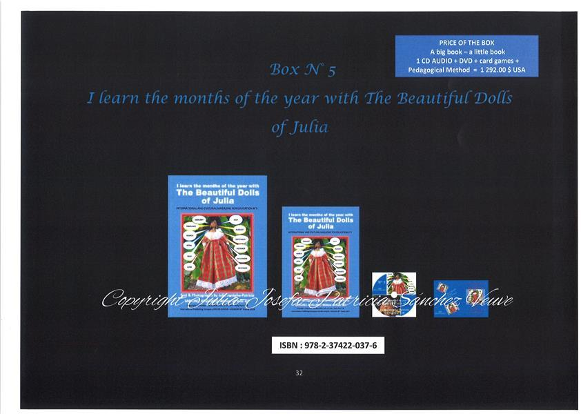 Vente  I learn the months of the year with the beautiful dolls of Julia  - Julia J.P. Sanchez  - Julia-Josepha-Patricia Sanchez