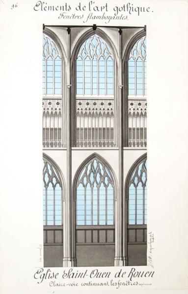 Livre architecture gothique lot de 10 beaux lavis for Fenetre gothique