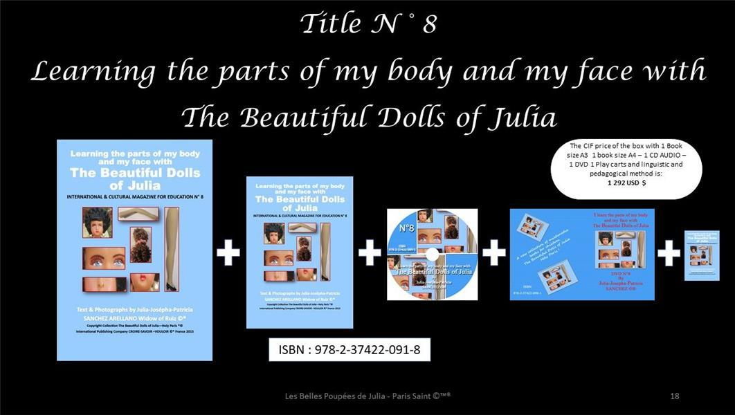 Vente  I learn the parts of my body and my face with the beautiful dolls of Julia  - Julia J.P. Sanchez  - Julia-Josepha-Patricia Sanchez