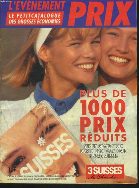 livre catalogue 3 suisses l 39 evenement prix hiver 1992. Black Bedroom Furniture Sets. Home Design Ideas