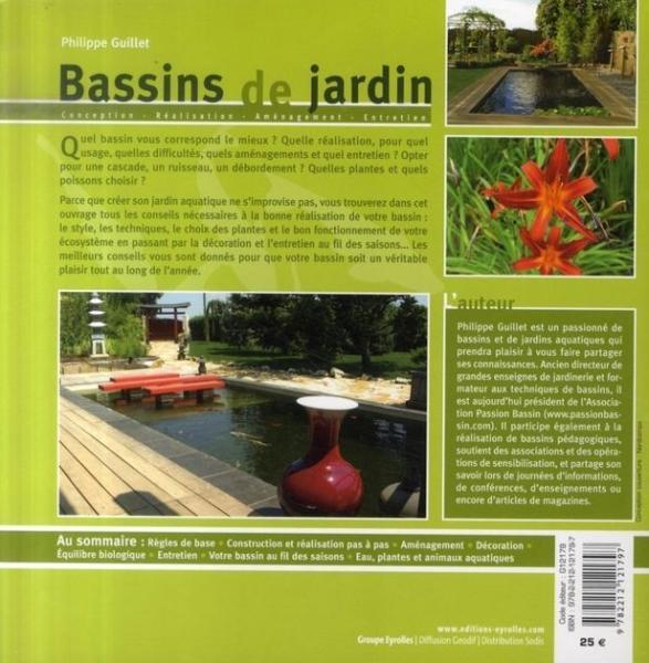 Livre bassins de jardin conception r alisation for Conception bassin jardin