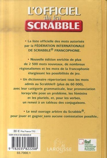 officiel du jeu scrabble pdf