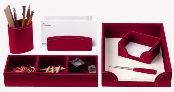 parure de bureau 6 pieces rouge couverture format classique. Black Bedroom Furniture Sets. Home Design Ideas