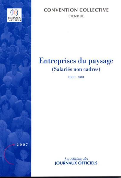 Livre entreprises du paysage salaries non cadres for Entreprise du paysage