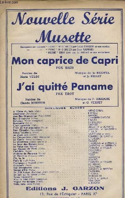 Livre - Mon Caprice De Capri + J'Ai Quitte Paname