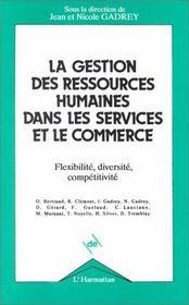 La gestion des ressources humaines dans les services et le commerce - Intérieur - Format classique