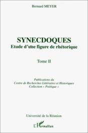 Synecdoques t.2 - Couverture - Format classique