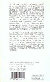 La Bicyclette De Leonard-1ere Ed - 4ème de couverture - Format classique