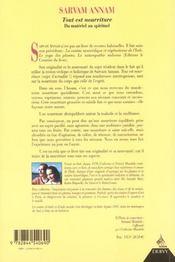 Sarvam Annam. Tout Est Nourriture - 4ème de couverture - Format classique