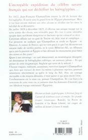 Champollion L'Egyptien - 4ème de couverture - Format classique