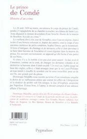 Le Prince De Conde; Histoire D'Un Crime - 4ème de couverture - Format classique