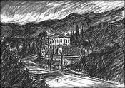 Le visiteur de Sainte Victoire - Intérieur - Format classique