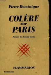 Colere Sur Paris. - Couverture - Format classique