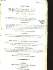 Nouveau Vocabulaire De La Langue Francaise - Couverture - Format classique