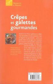Crêpes et galettes gourmandes - 4ème de couverture - Format classique