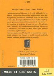 Invitation A La Philosophie - 4ème de couverture - Format classique