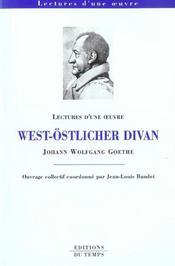 West-Ostlicher Divan De Goethe - Intérieur - Format classique
