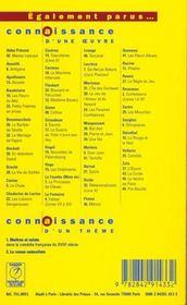 Turcaret, de Lesage - 4ème de couverture - Format classique