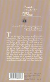 Port Mungo - 4ème de couverture - Format classique