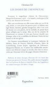 Les Dames De Chenonceau - 4ème de couverture - Format classique