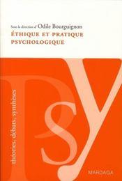 Éthique et pratique psychologique - Intérieur - Format classique
