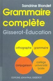 Grammaire Complete - Intérieur - Format classique