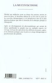 La Mucoviscidose De La Theorie A La Pratique ; 2e Edition - 4ème de couverture - Format classique