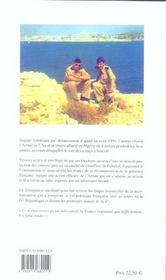 Algérie : 1959-1961 ; un appelé raconte - 4ème de couverture - Format classique