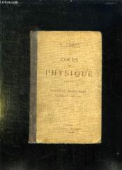 Cours De Physique. Classe De Philosophie. - Couverture - Format classique