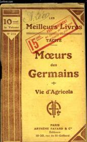 Moeurs Des Germains - Vie D'Agricola - Couverture - Format classique