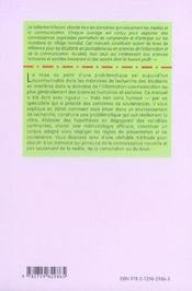 Le mémoire de recherche en information-communication (2e édition) - 4ème de couverture - Format classique