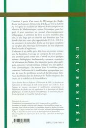 Introduction A La Mecanique Theorique Des Fluides - 4ème de couverture - Format classique