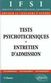 Tests Psychotechniques Et L'Entretien D'Admission En Ifsi 2e Edition - Intérieur - Format classique