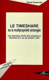Le Timeshare Ou La Multipropriete Echangee - Intérieur - Format classique