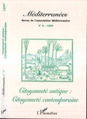 Citoyennete Antique Citoyennete Contemporaine - Couverture - Format classique