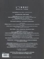 L'Inoui N 2 - 4ème de couverture - Format classique