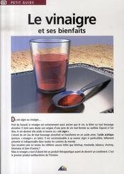 Petit Guide T.173 ; Le Vinaigre Et Ses Bienfaits - Intérieur - Format classique