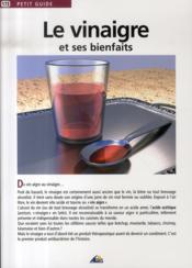 Petit Guide T.173 ; Le Vinaigre Et Ses Bienfaits - Couverture - Format classique