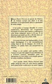 Le Mystere De Therese De Lisieux - 4ème de couverture - Format classique