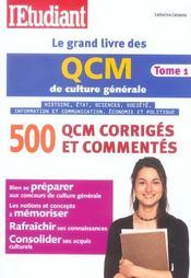 Le Grand Livre Des Qcm De Culture Generale T.1 - Intérieur - Format classique