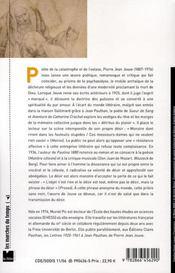 Le désir monstre ; poétique de pierre jean jouve - 4ème de couverture - Format classique
