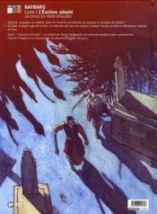 Baybars t.1 - 4ème de couverture - Format classique