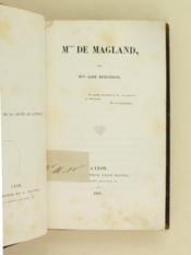 Mlle de Magland. - Couverture - Format classique