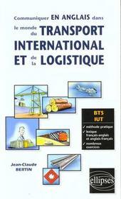 Communiquer En Anglais Dans Le Monde Du Transport International Et De La Logistique Bts Iut - Intérieur - Format classique