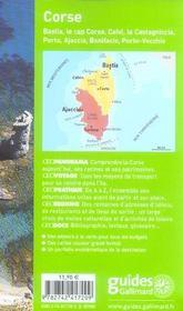 Geoguide ; Corse (Edition 2006-2007) - 4ème de couverture - Format classique