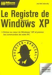 Le registre de windows xp - Intérieur - Format classique